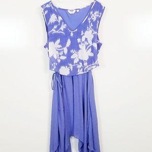 XL mlle gabrielle dress tank sleeve, flutter skirt